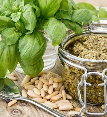 Basil and pine nut pesto
