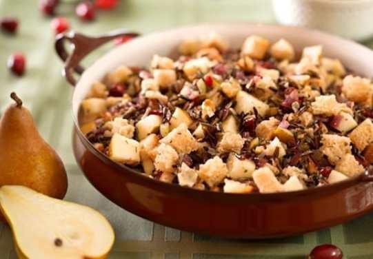 vegan Thanksgiving; Cranberry wild rice stuffing recipe