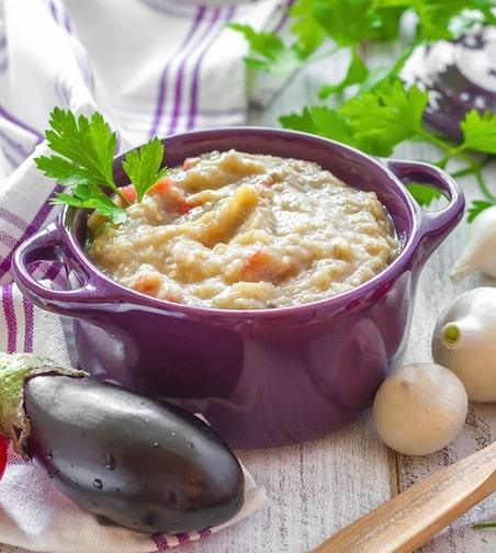 Creole eggplant soup
