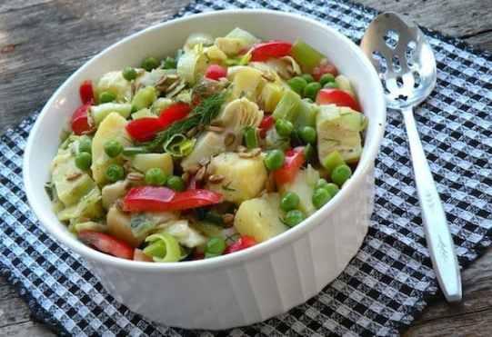Potato and leek salad