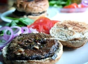 Grilled portabella burgers