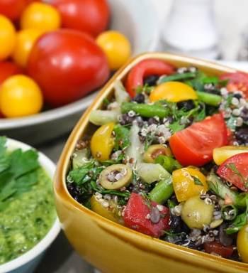 Herb Garden Couscous or Quinoa and Black Bean Salad