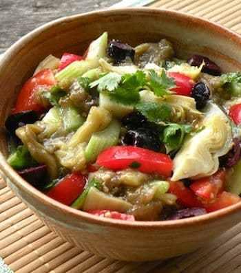 eggplant and artichoke salad