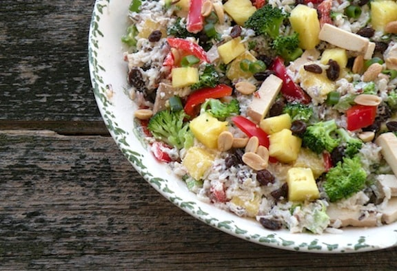 Pineapple Rice salad