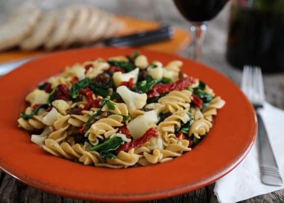 Cauliflower & Spinach Pasta twists