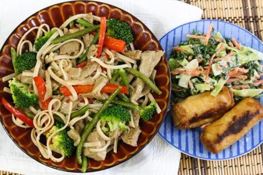 Seitan Chow Fun Noodles