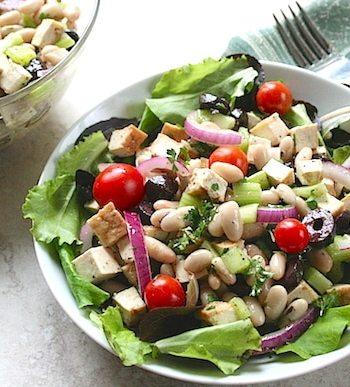 Tofu and White Bean Salad