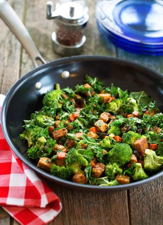 Tempeh and veggie breakfast skillet recipe