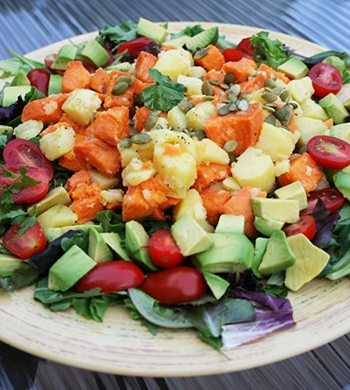 White and sweet potato salad1