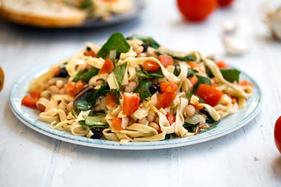 Chard and White bean pasta recipe