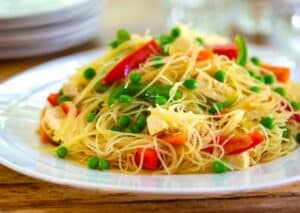 Singapore-style rice noodles