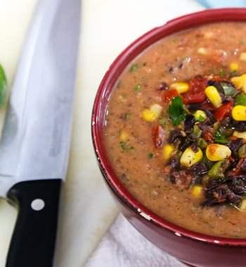 Quick Cool Pinto Bean Soup