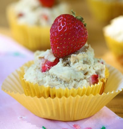 vegan and gluten-free strawberry shortcake muffins