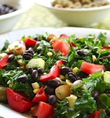 Southwestern kale salad recipe