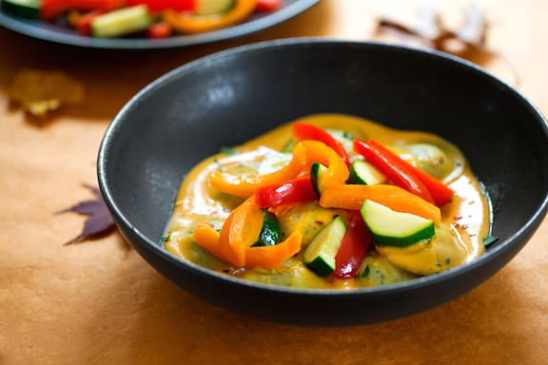 Ravioli in sweet potato sauce recipe