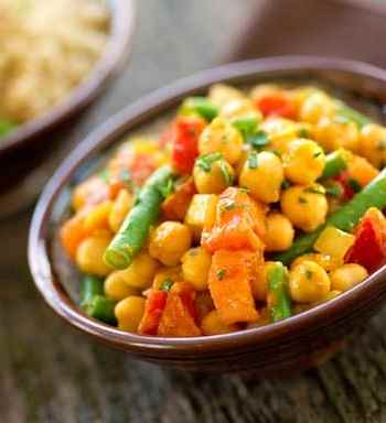 Chana masala - curried chickpeas