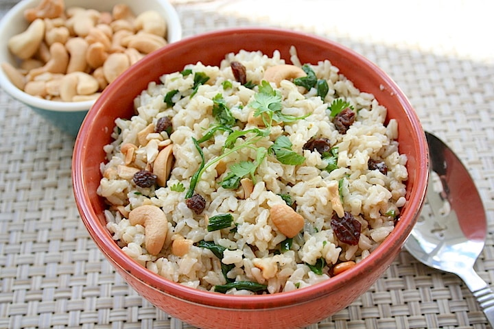 Tasty easy brown rice recipes pdf e book vegkitchen cashew basmati rice pilaf forumfinder Choice Image