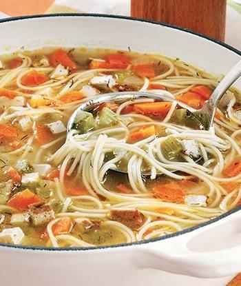 Vegan mock chicken soup
