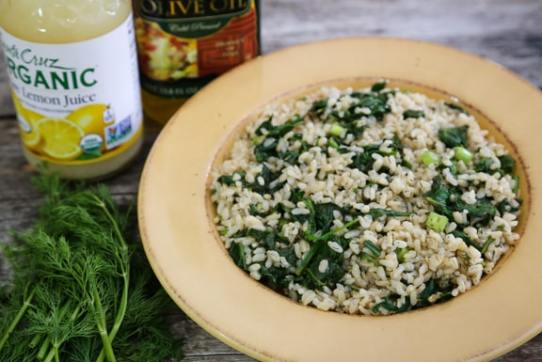 Simple Spinach and Dill Rice