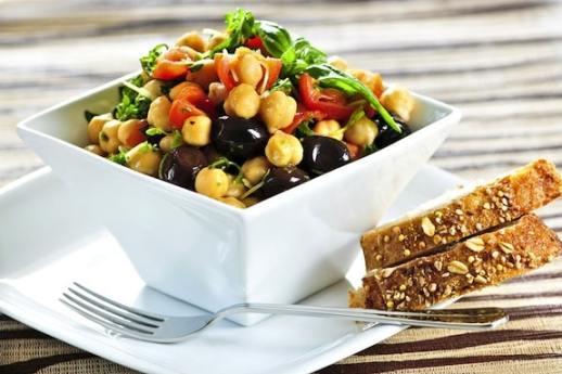 Chickpea tomato olive salad recipe