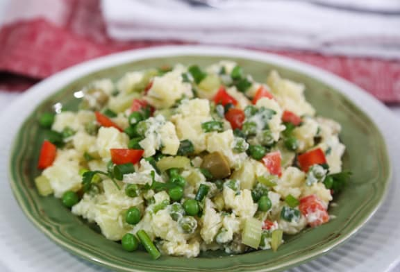 Colorful and Creamy Potato Salad