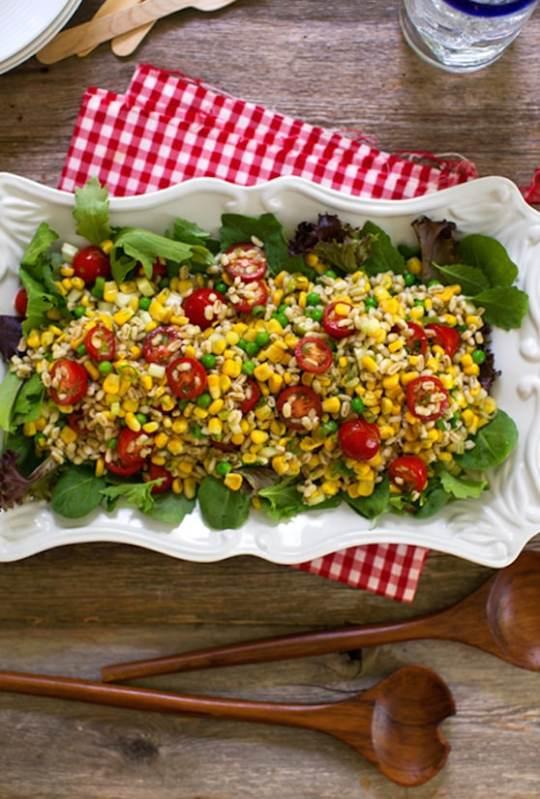 Barley and fresh corn salad recipe