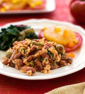 Spanish Rice and Red Beans