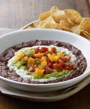 Vegan 4-layer bean dip