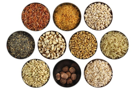 grains, beans, and nuts