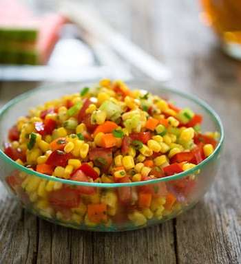 Tomato and corn salad