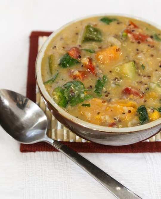African Inspired Quinoa Peanut Soup