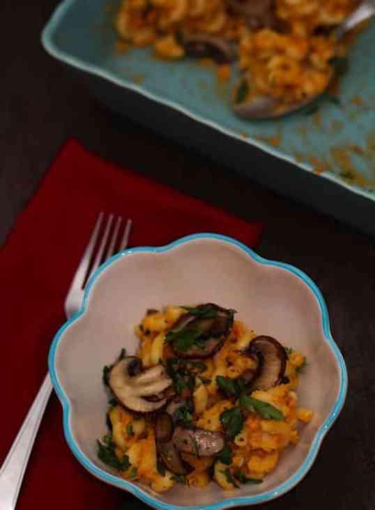 Sweet potato vegan and gluten-free mac n cheese1