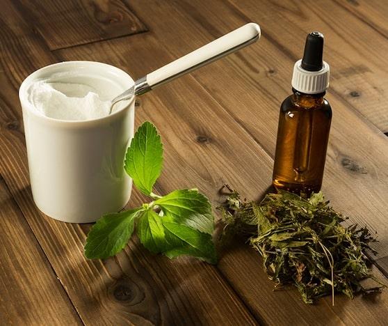 Stevia leaf, powder, and liquid