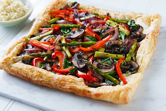Spring vegetable tart