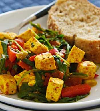 Tofu and spinach scramble