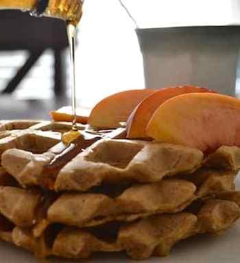 Vegan pumpkin waffles recipe