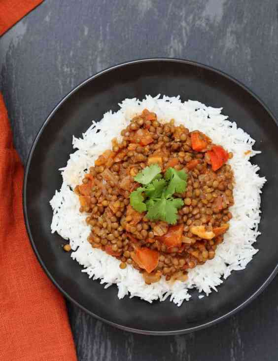 Masala lentils dal recipe by Vegan Richa