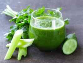 resh celery, cucumber, and parsley juice