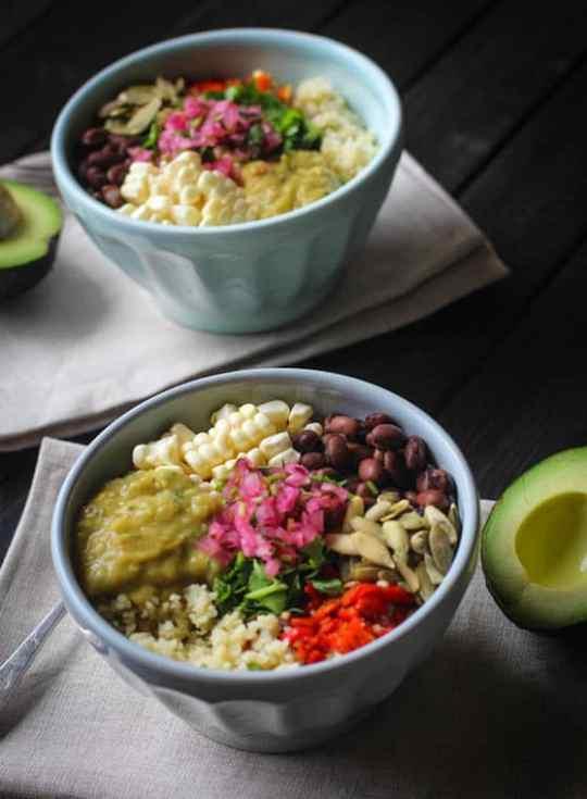 """Mexican Cauliflower """"Rice"""" bowl"""