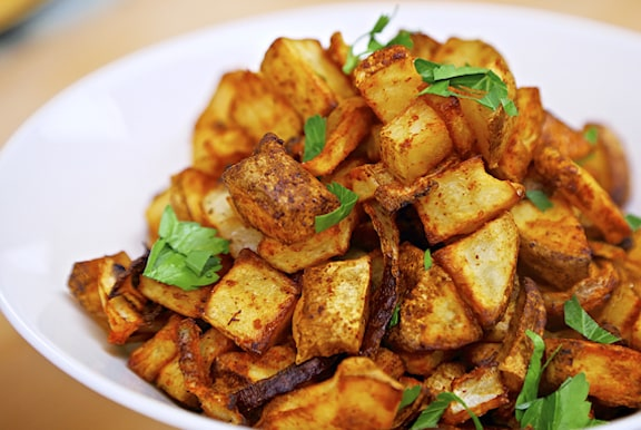 Spicy baked home fries recipe