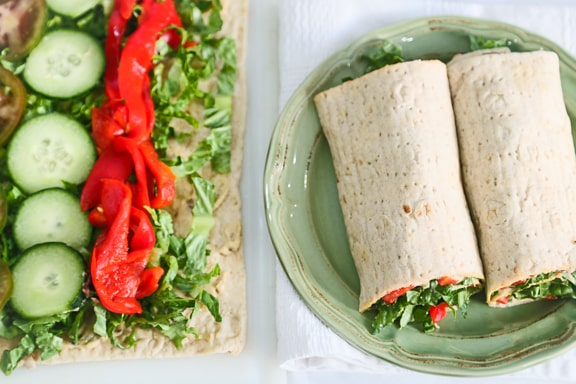 how to make a veggie wrap sandwich