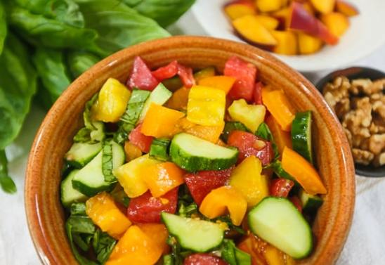 Tomato and Peach Salad Recipe