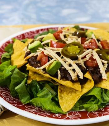 Layered Vegan Taco Salad