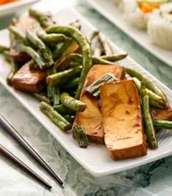 Effortless Tofu and Green Beans Teriyaki recipe