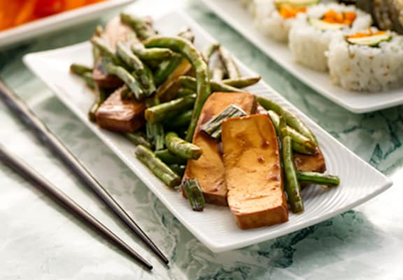 Effortless Tofu and Green Beans Teriyaki recipe