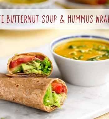 20-minute Butternut soup & hummus