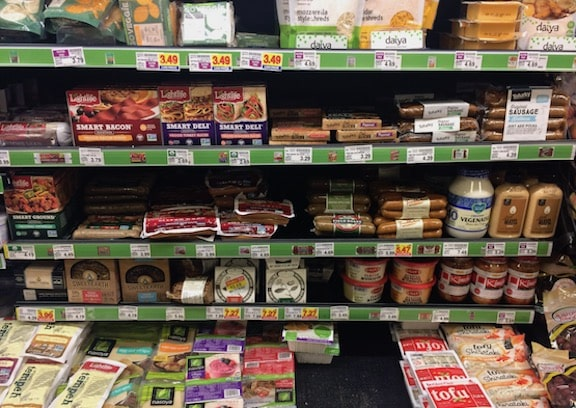 vegan substitutions in supermarket