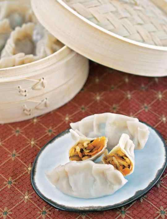 Instant pot Asian vegan dumplings by Kathy Hester