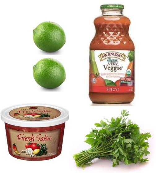Easy gazpacho ingredients
