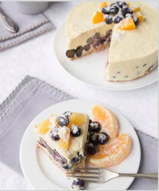 Raw Vegan Orange Creamsicle Ice Cream Cake